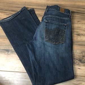 Lucky Brand sz 6 slight bootcut Jean button fly